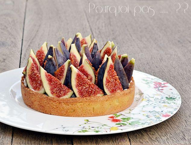 Pourquoi pas .... ??: Tarte figues fraiches / chantilly tonka