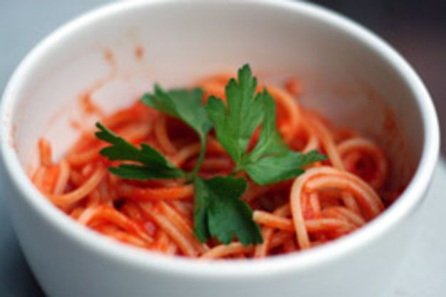 Dinner Tonight: Spaghetti with Tomato and Orange Juice