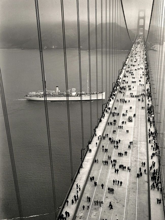 The Golden Gate Bridge opened on May 27, 1937 - From Golden Gate Bridge District
