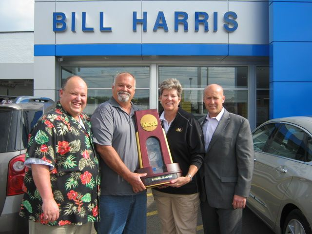 Thank you to Ashland University's Women's Basketball Coach, Sue Ramsey, for sharing her team's 2013 Division 2 National Championship trophy with Bill Harris Auto Center.  We are so proud of Sue and her team's success!