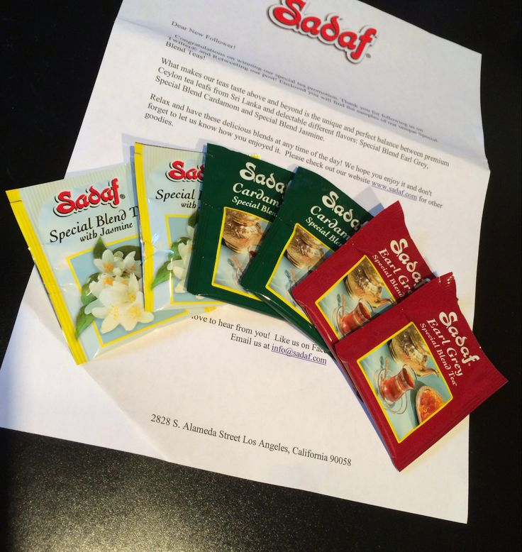 Free Sadaf Tea Samples  via @dorkysdeals