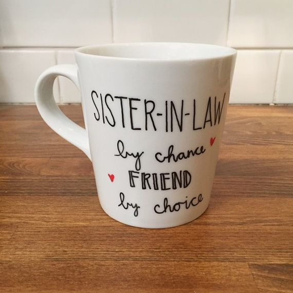 Sister In Law Wedding Gift: Bridal Shower Gift // Sister In Law Coffee Mug