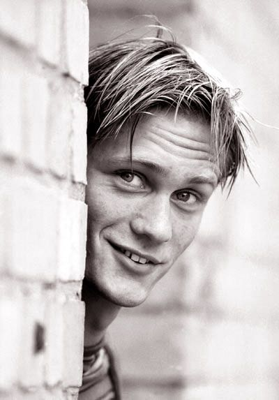 Alexander Skarsgard and I share the same teeth defects. Or at least we did at some point. This picture is adorable.