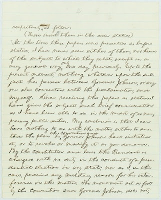 long-lost letter written by Abraham Lincoln has been discovered in the National Archives in College Park, Maryland.    Written on October 22, 1864, the subject of the letter is Lincoln's response to various individuals who were complaining about voter eligibility requirements in Tennessee for the presidential election of 1864.: Colleges Parks, Blessed America, Abraham Lincoln, Mothers, God Blessed, Letters Written, Elig Requir, October, Long Lost Letters