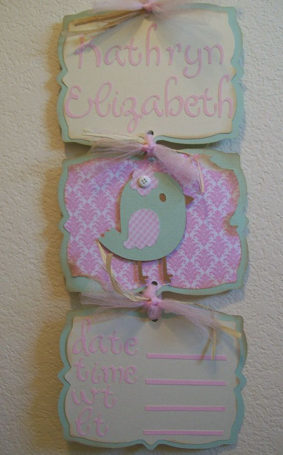 Baby Girl Hospital Door Banner Birdie Themed by KatlinLee123, Love it!!! Thank you so much!!