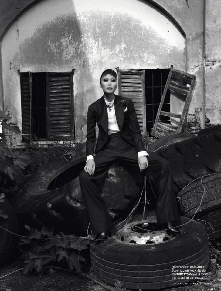 editorial for L'Officiel Thailand - January 2014 Photographer: Marco Marezza Stylist: Luigi Gaballo