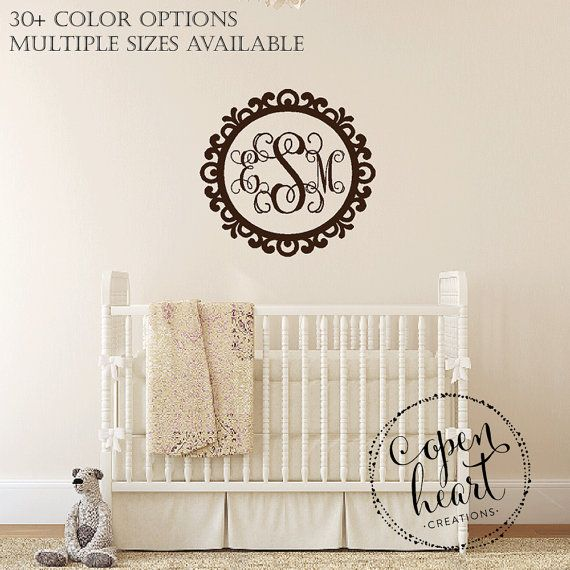 Best Baby Nursery Wall Decals Images On Pinterest Nursery - Monogram wall decal for nursery