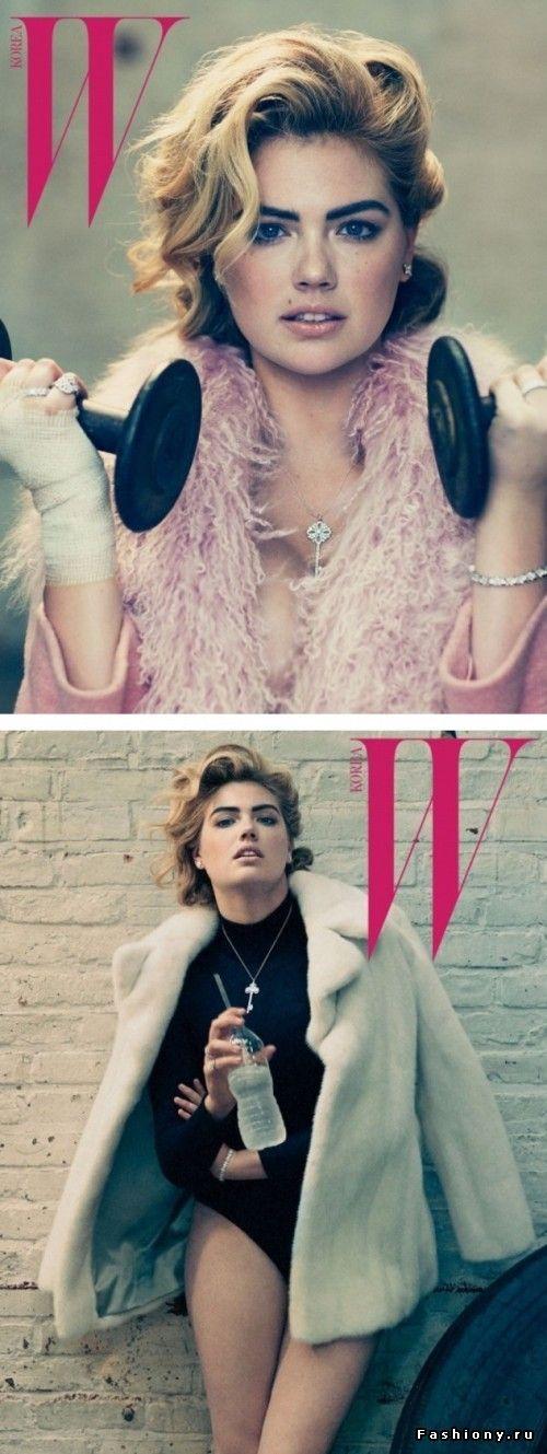 Кейт Аптон для W Magazine: в спортзал на каблуках