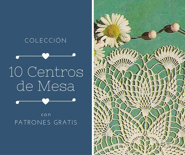 CTejidas [Crochet y Dos Agujas]: 10 Centros de mesa redondos totalmente adorables