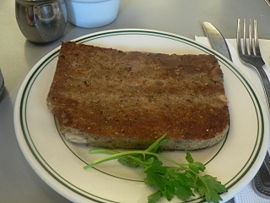 "SCRAPPLE! A Pennsylvania Dutch ""special""!  OMG - one of my patients brought up Scrapple today - Growing up, I my G-ma used to serve it with maple syrup for bfast. I loved it till I read the ingredients. This recipe looks ""better"""