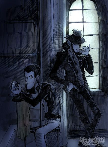 Lupin and Jigen by Dasha-KO