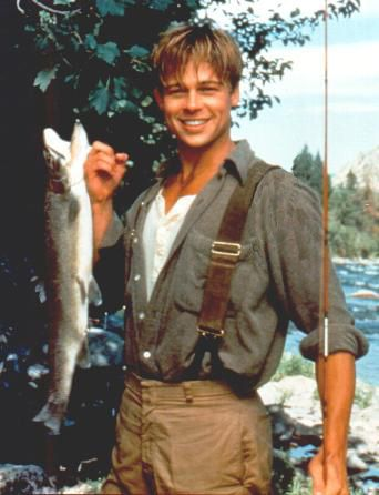 1992 ~A River Runs Through It ~  don't think he's acting here...a  fisherman's genuine pride.