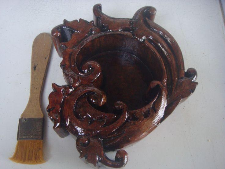 Asbak kayu Ukir #01 Tampak dari sisi yang lain