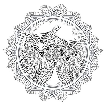 tattoo owl coloring pages - photo#33