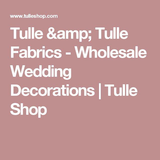 Tulle & Tulle Fabrics - Wholesale Wedding Decorations | Tulle Shop