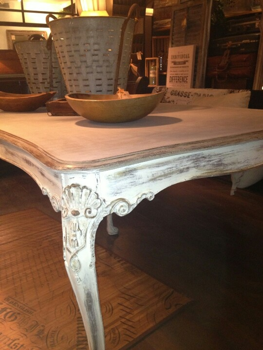 Painted With Annie Sloan Old White French Linen And Coco Dark Wax Chalk Paint Furnituredining Furniturefurniture