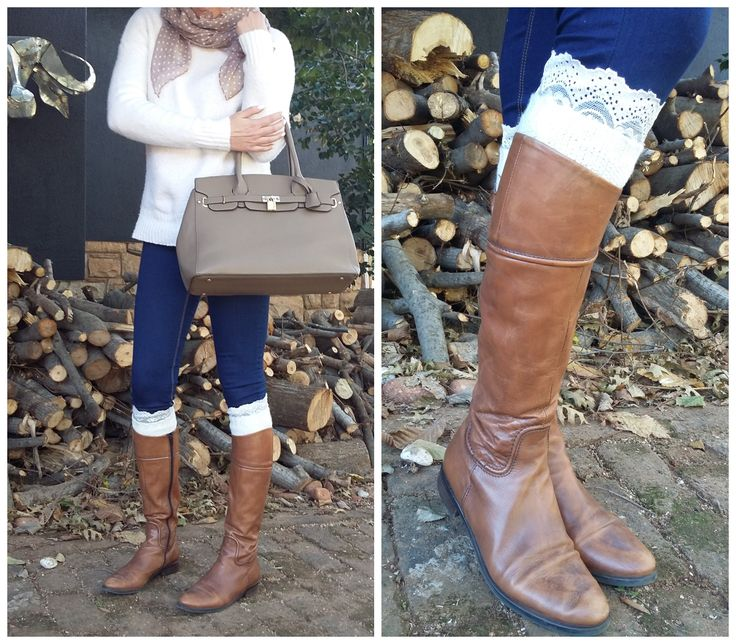 We love to double up. Wear a plain pair of #bootcuffs over a lace pair of #bootcuffs for a different look. only at www.mademois-elle.co.za