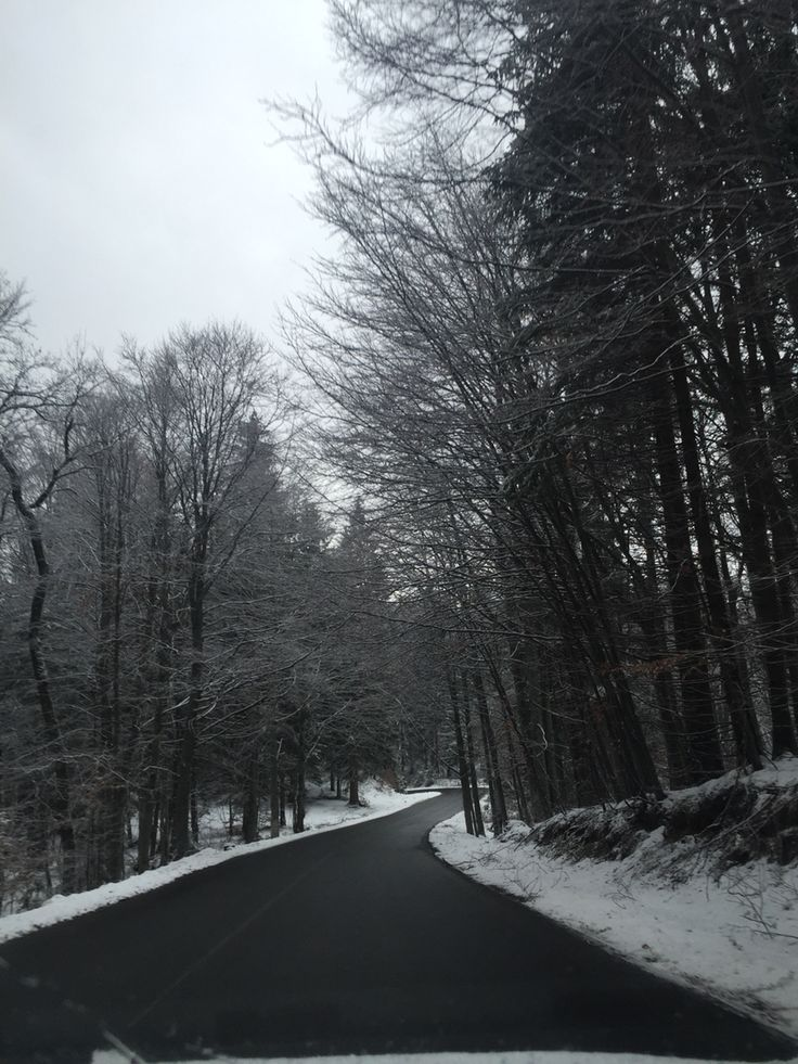 The road to Poaiana Brasov, Romanian Mountain Resort