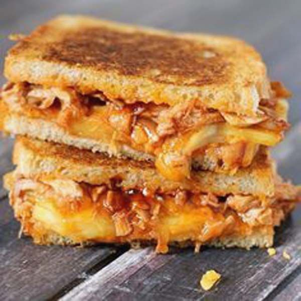 BBQ Chicken &Pineapple Grilled Cheese