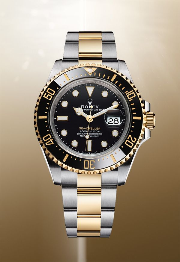ad6b1f8b008 Created from Oystersteel and 18ct yellow gold, the new Rolex Sea-Dweller  features a