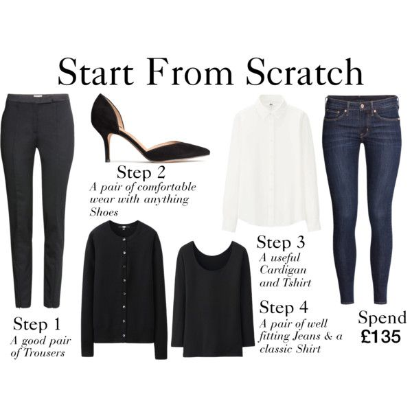 Start From Scratch Winter Steps 1-4 by charlotte-mcfarlane on Polyvore featuring Uniqlo and H&M