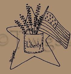 Primitive Americana Stitchery E Pattern - Little Blessings