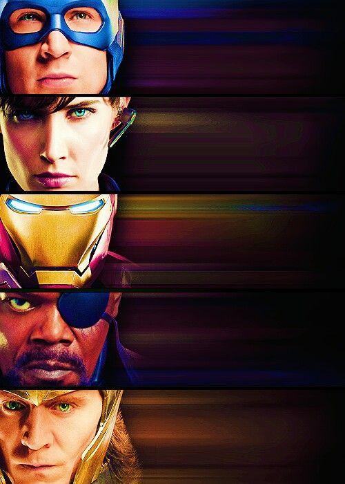 Capitan America, Maria Hill, Iron Man, Nick Fury, Loki