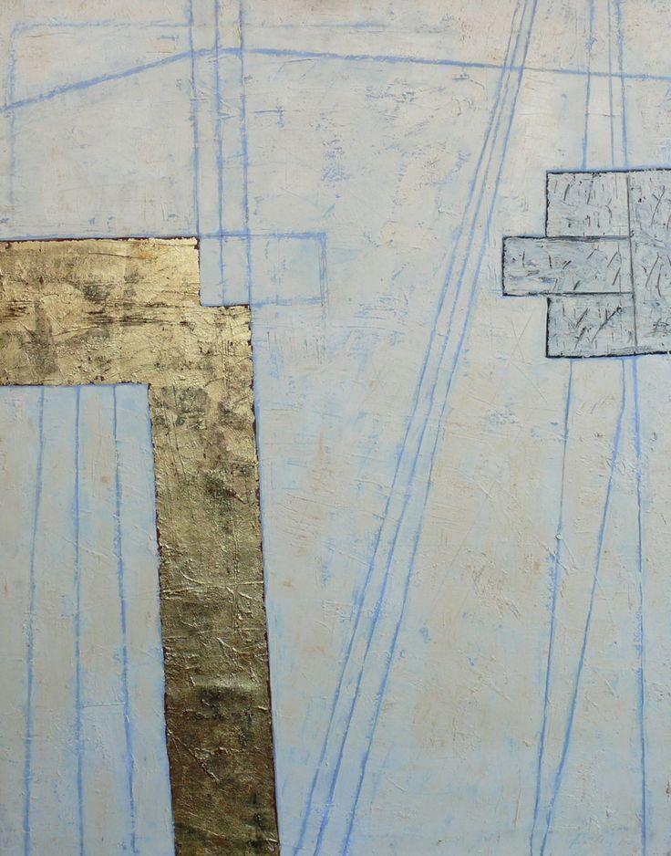 Mulasics László: Domus Aurea I., 1987, 74 x 93 cm, olaj, metál vászon / oil, metal on canvas