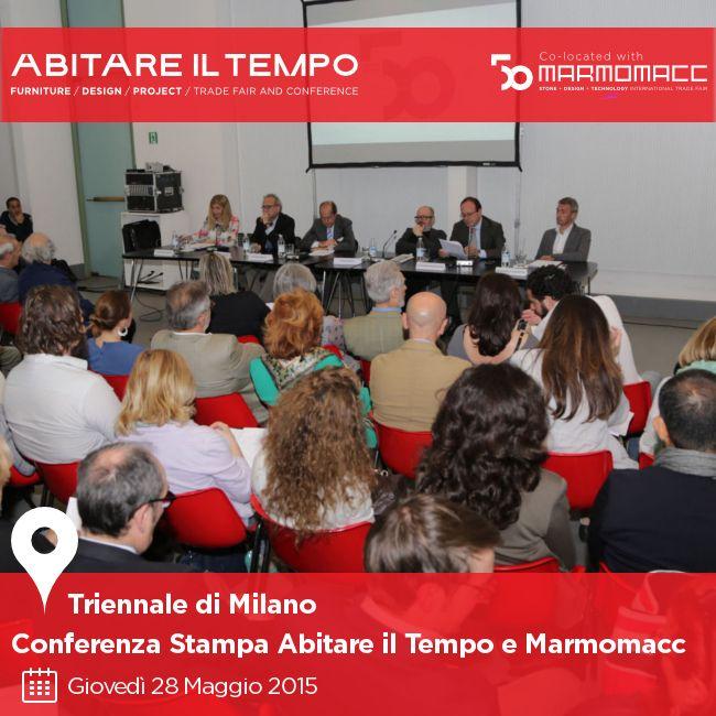 Giovedì 28 Maggio abbiamo presentato l'edizione 2015 di Abitare il Tempo a Milano, per il secondo anno in contemporanea con Marmomacc.  Scopri chi c'era ►► http://goo.gl/ccq6Q6