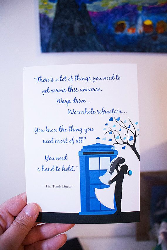 Doctor Who TARDIS Wedding Invitation Suite by TiarrArts on Etsy