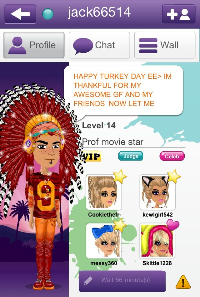 I love his Thanksgiving outfit c: jack66514