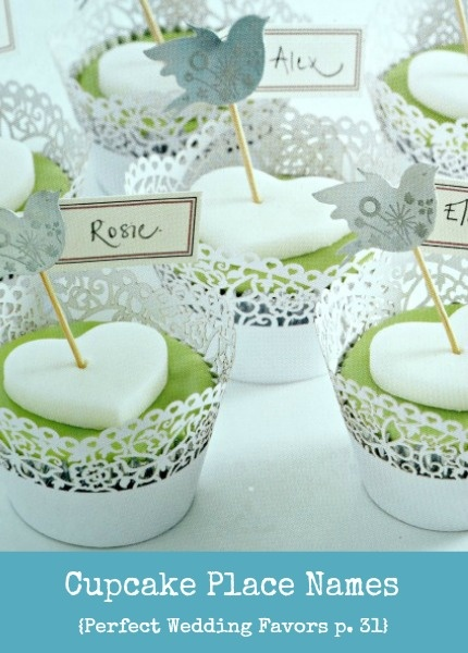 Perfect Wedding Favours Cupcake Place Names