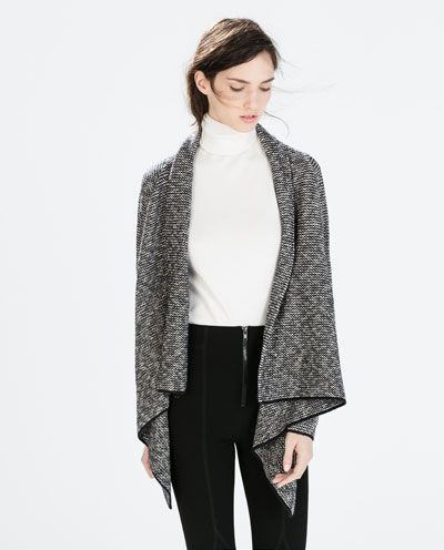 TWO-TONE POINTED JACKET