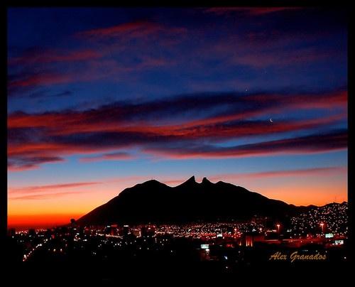 "Monterrey, México  - Cerro de la Silla (""Saddleback"" Mountain)"