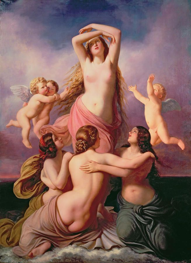 The Birth Of Venus Painting by Eduard Steinbruck - The Birth Of ...