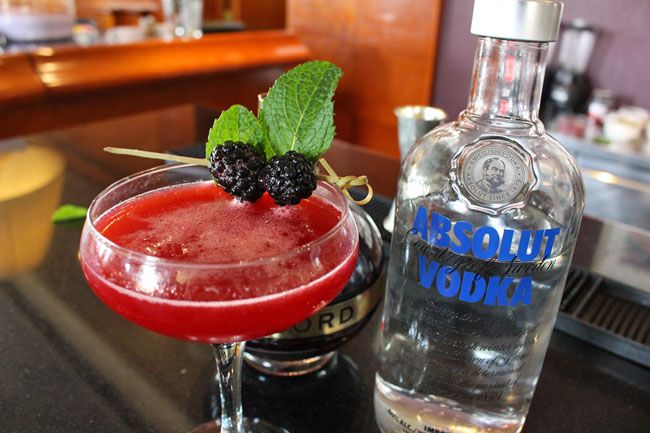 Delicious Red Mothers Day Cocktail at Merlins Bar