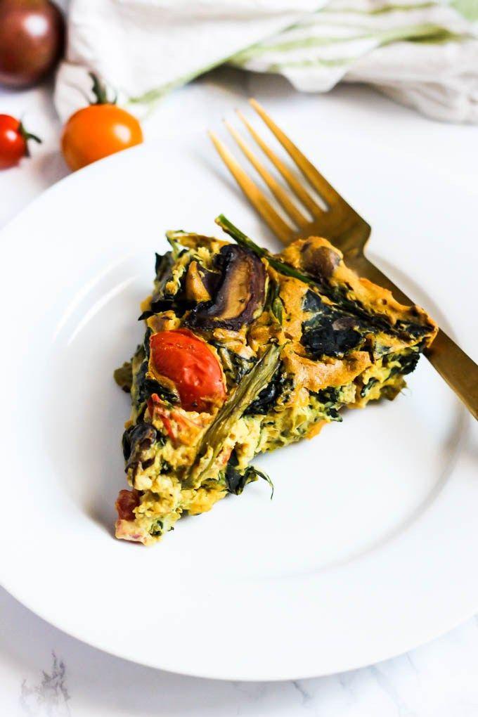 asparagus & mushroom vegan quiche #oilfree #quiche