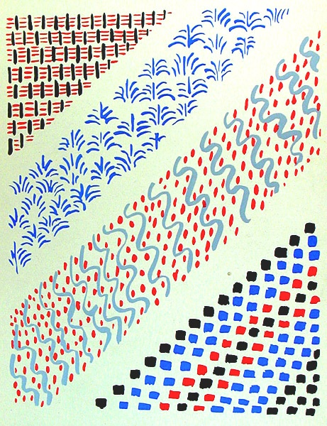 Sonia Delaunay stencils: Composition 27, Patterns Design, Patterns Inspiration, Sonia Delaunay, Art Schools, Geometric Design, 06 Illustrations, Delaunay Compost, Sonia Delauney