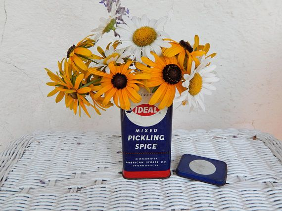 Vintage Ideal Mixed Pickling Spice Tin American Stores Co.