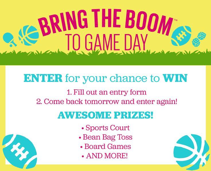 http://woobox.com/xuxyf4/gklx92 Win prizes like a bean bag toss, board games, an outdoor spots court, and more!