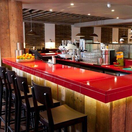 Cafe Pho, lava bar tops by Pyrolave UK
