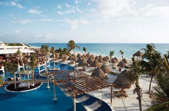 Excellence Playa Mexico Beachfront Elegant Lounge Luxury Modern Pool Water Sky Boat Leisure Sea Beach Caribbean Resort Marina Ocean