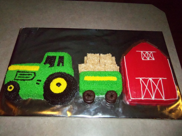 Tractor, trailor and barn cakes