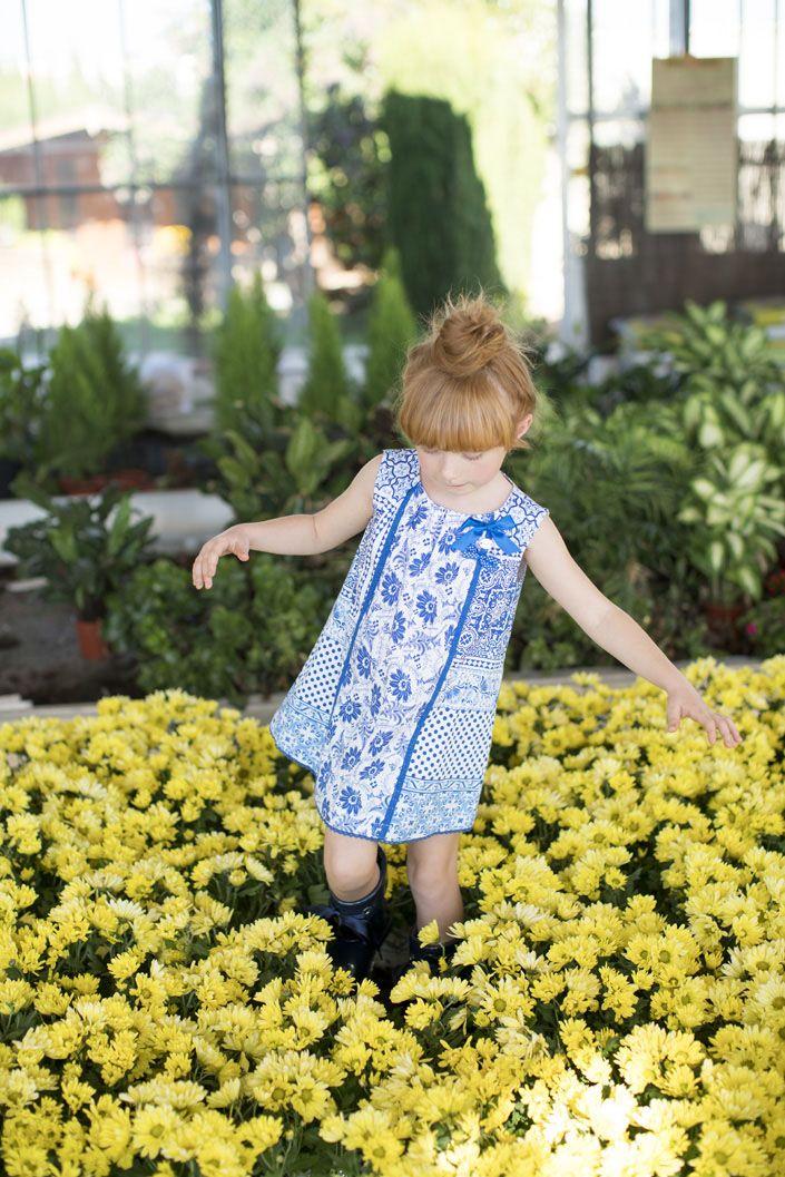 Vestido para niña de Rosalita Señoritas (colección primavera verano)