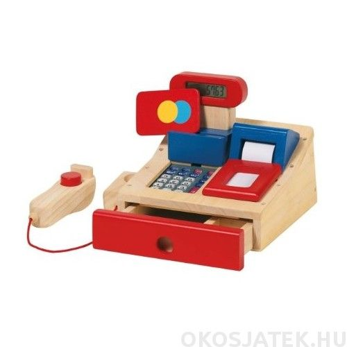 Fa játék pénztárgép - Goki játék kassza 51807