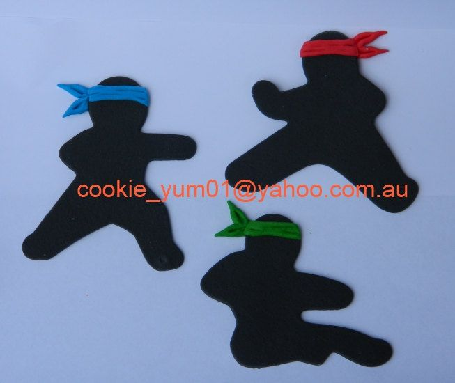 3 edible NINJAS KARATE COLOURED head bands cupcake cake topper decorations anniversary birthday baby shower christening school sport martial by cookiecookieyumyum on Etsy