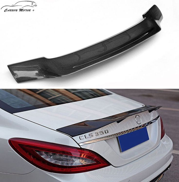 R Style For Mercedes Benz W218 CLS350 CLS500 CLS550 2011 + Carbon Fiber Spoiler