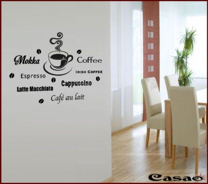 94 best Kaffee images on Pinterest Colors, Beverage and Coffee - wandtattoos für küche