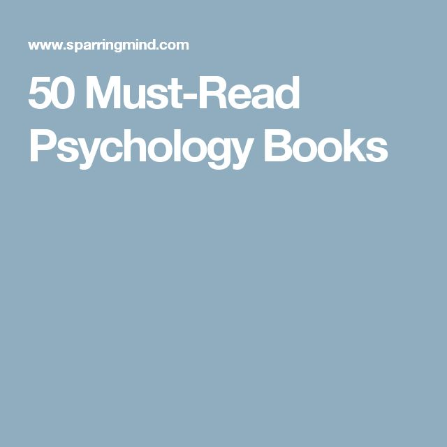 50 Must-Read Psychology Books