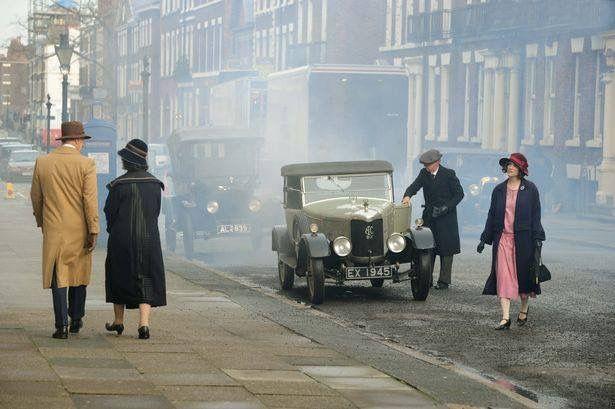 Filming Peaky Blinders in Rodney Street Liverpool
